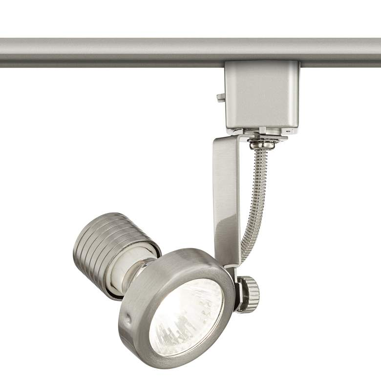 Brushed Nickel LED Track Head for Lightolier Systems