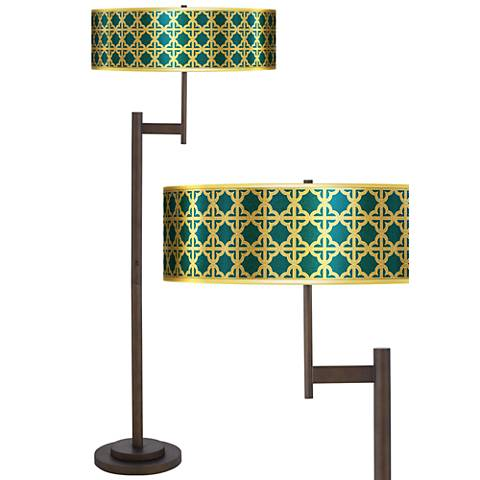 Four Corners Gold Metallic Giclee Parker Bronze Floor Lamp