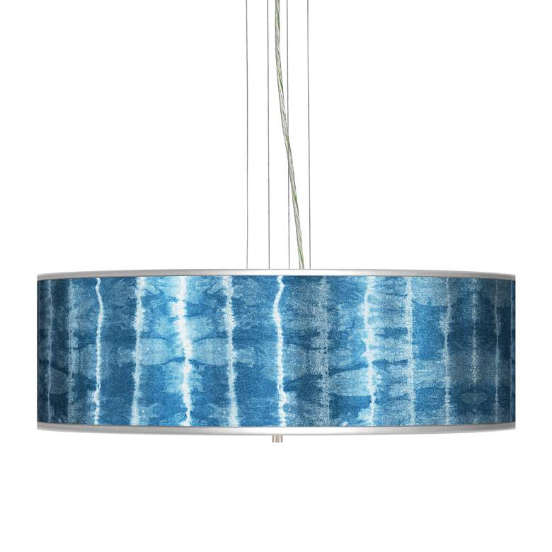 "Cool Reflections Silver Metallic 24"" Wide 4-Light Pendant"