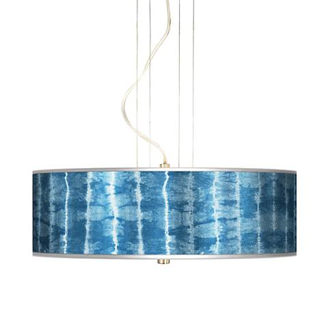 "Cool Reflections Silver Metallic 20"" Wide 3-Light Pendant"