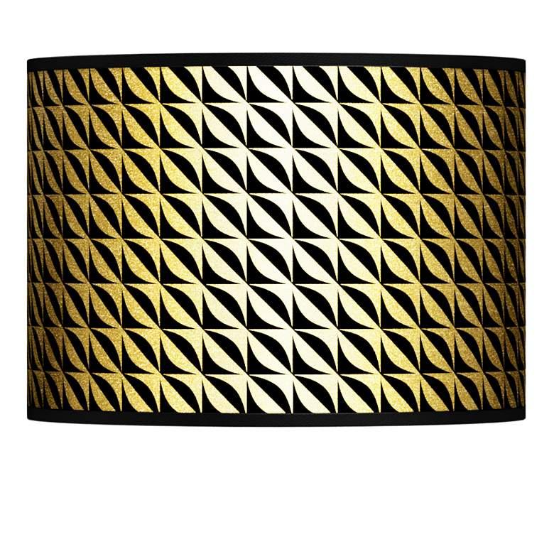 Waves Gold Metallic Giclee Lamp Shade 13.5x13.5x10 (Spider)