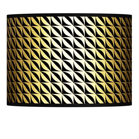 Waves Gold Metallic Giclee Lamp Shade 13.5x13.5x10 (Spider)