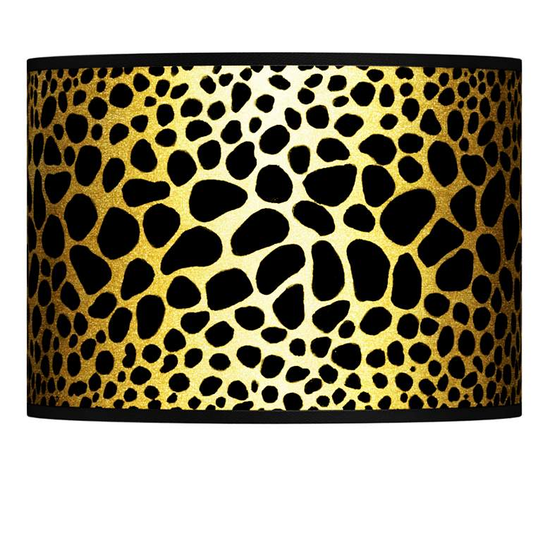 Leopard Gold Metallic Giclee Lamp Shade 13.5x13.5x10 (Spider)