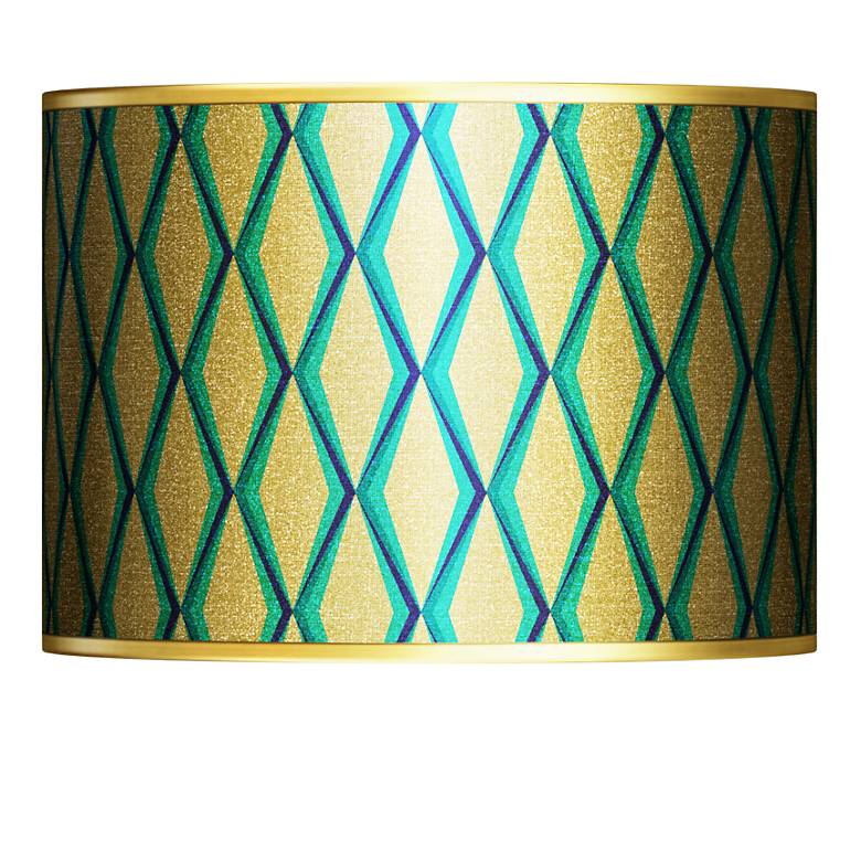 Matrix Gold Metallic Giclee Lamp Shade 13.5x13.5x10 (Spider)