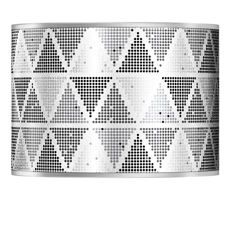 Pointillism Silver Metallic Lamp Shade 13.5x13.5x10 (Spider)