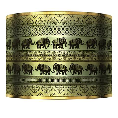 Elephant March Gold Metallic Lamp Shade 13.5x13.5x10 (Spider)