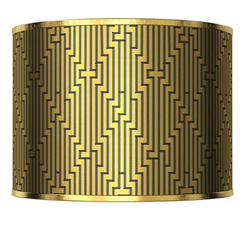 Diamond Maze Gold Metallic Lamp Shade 13.5x13.5x10 (Spider)
