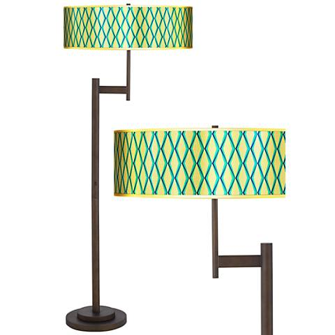 Matrix Gold Metallic Giclee Parker Bronze Floor Lamp