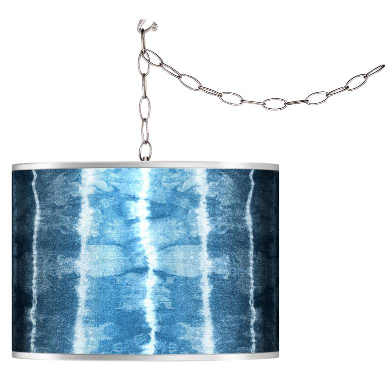 Swag Style Cool Reflections Silver Metallic Plug-In Chandelier