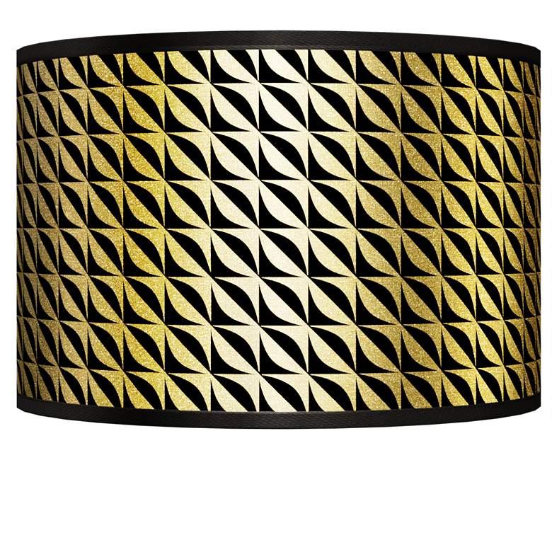 Waves Gold Metallic Giclee Shade 12x12x8.5 (Spider)