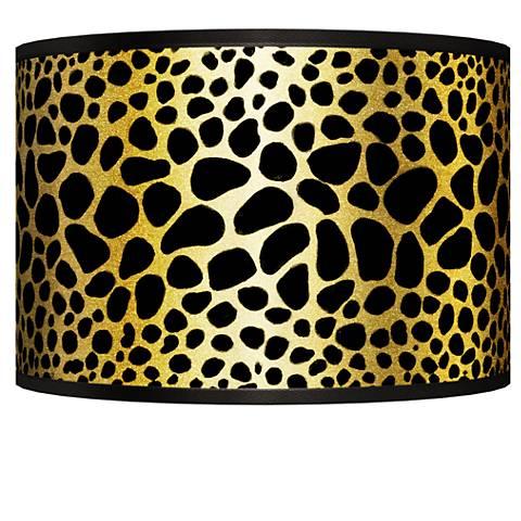 Leopard Gold Metallic Giclee Shade 12x12x8.5 (Spider)