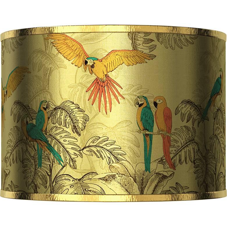 Macaw Jungle Gold Metallic Giclee Shade 12x12x8.5 (Spider)
