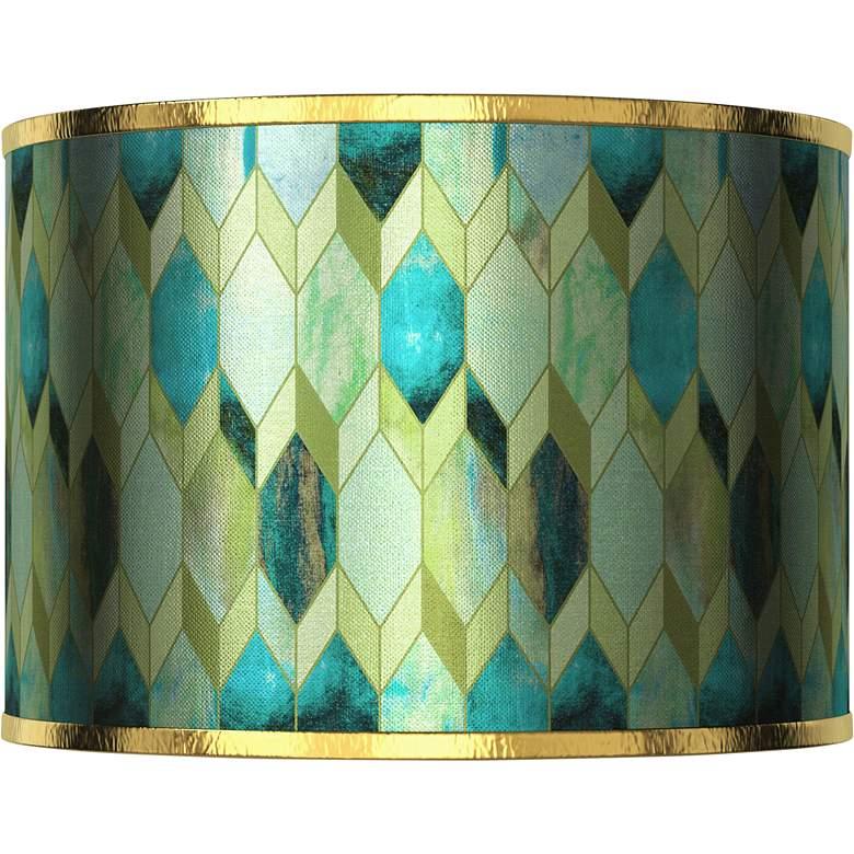 Blue Tiffany-Style Gold Metallic Giclee Shade 12x12x8.5 (Spider)
