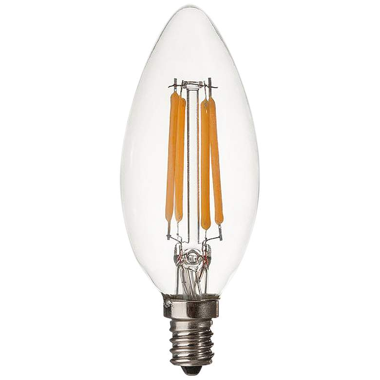 50W Equivalent Torpedo 6W LED Dimmable Filament Candelabra
