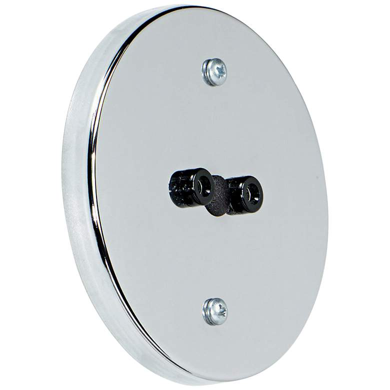 "Tech Lighting DJ Display Jack 4"" Round Chrome Wall Canopy"