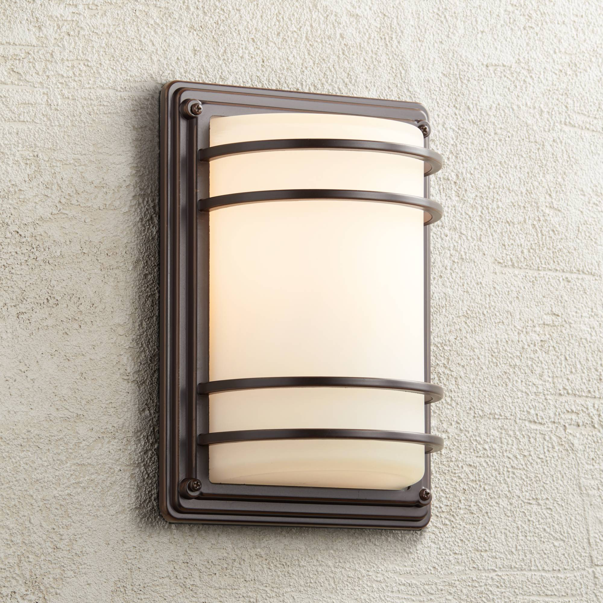 Details About Modern Outdoor Wall Light Fixture Rubbed Bronze 11 Sconce For Exterior House