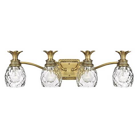 """Anana Plantation 28 1/2""""W Antique Brass 4-Light Bath Light"""