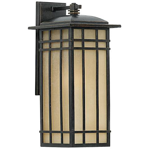 "Quoizel Hillcrest 20"" High Bronze Outdoor Wall Light"