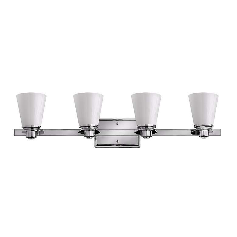 "Hinkley Avon Collection 31 3/4""W Chrome 4-Light Bath Light"