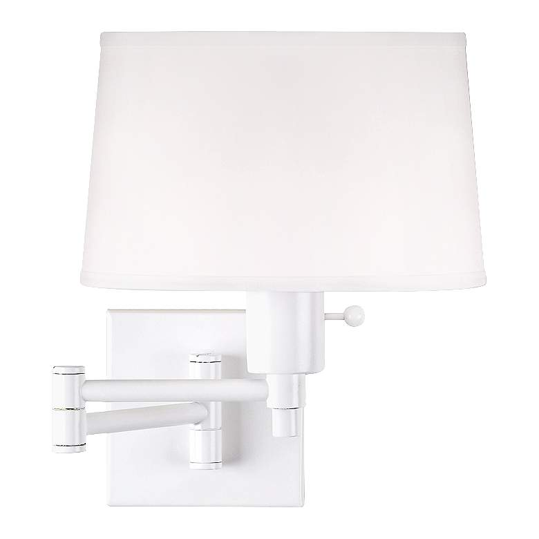 Real Simple Collection White Plug-In Swing Arm Wall