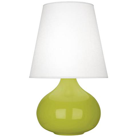 Robert Abbey June Apple Table Lamp with Oyster Linen Shade