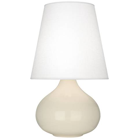 Robert Abbey June Bone Table Lamp with Oyster Linen Shade