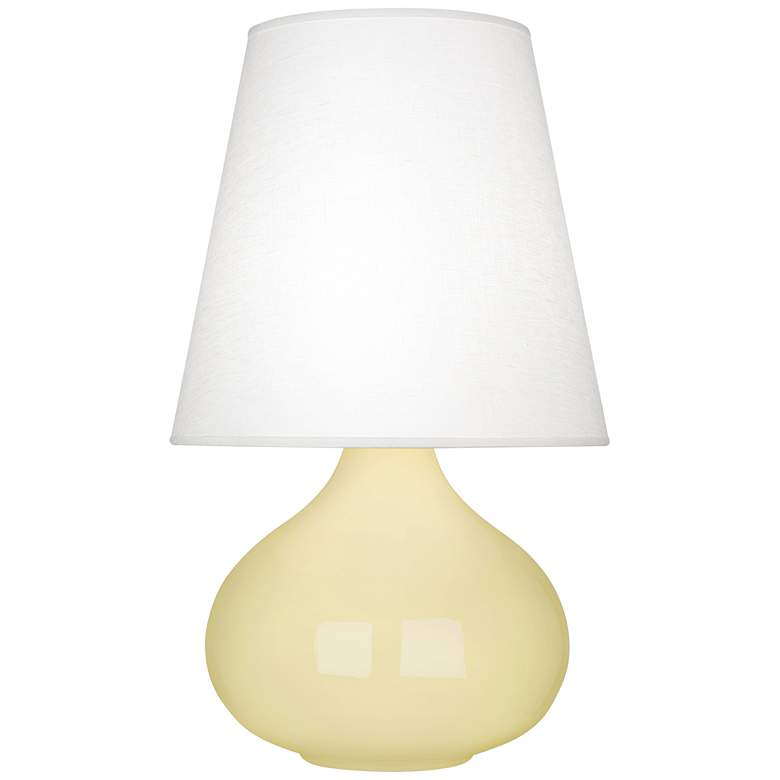 Robert Abbey June Butter Table Lamp with Oyster Linen Shade