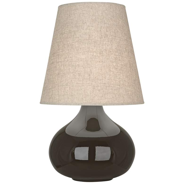 Robert Abbey June Coffee Table Lamp with Buff Linen Shade
