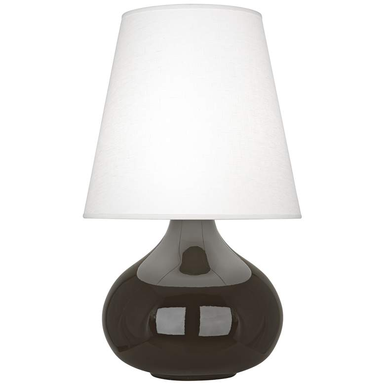 Robert Abbey June Coffee Table Lamp with Oyster Linen Shade