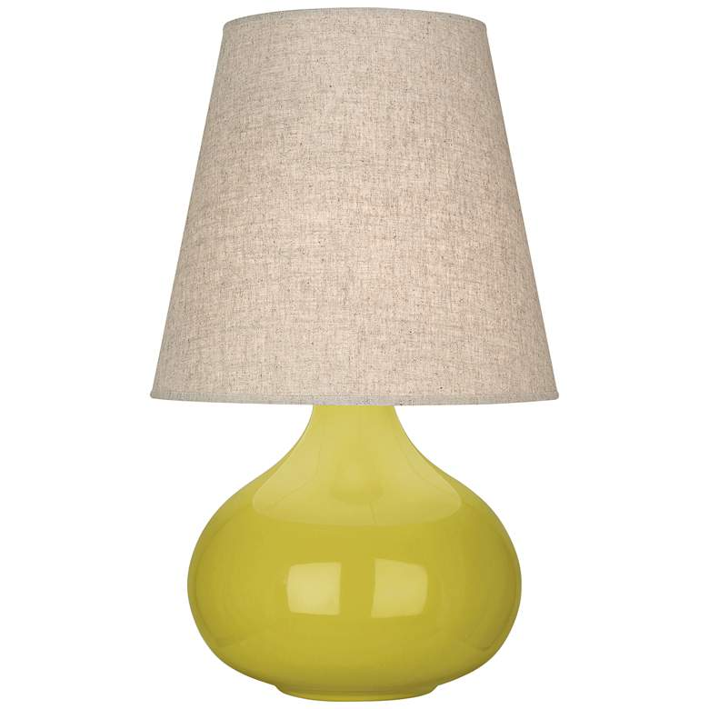 Robert Abbey June Citron Table Lamp with Buff Linen Shade