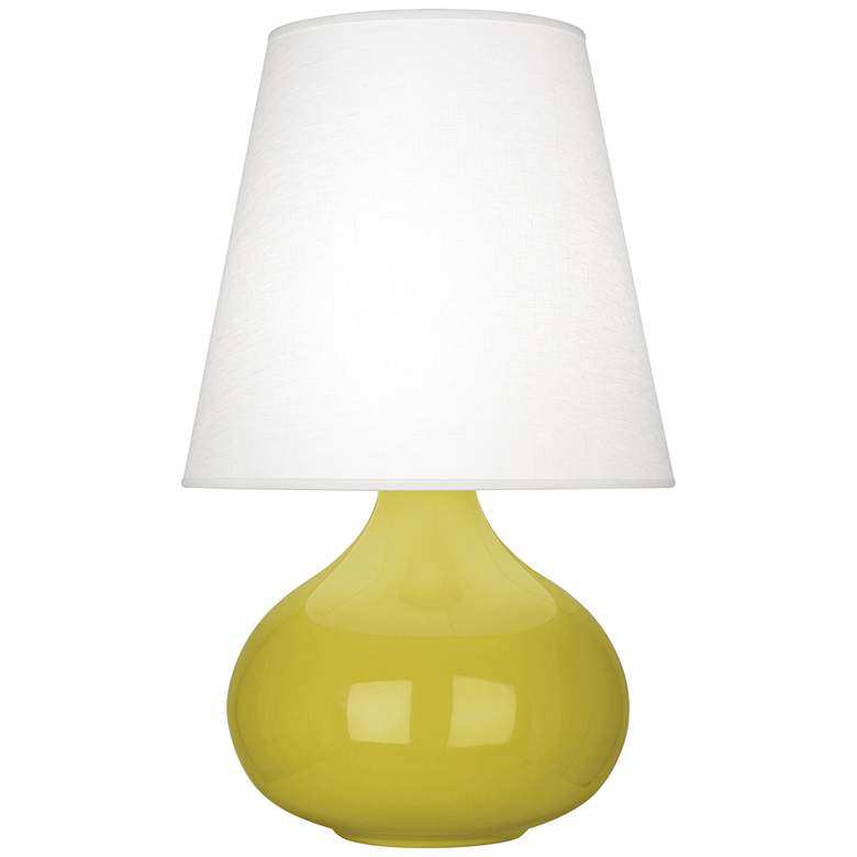 Robert Abbey June Citron Table Lamp with Oyster Linen Shade