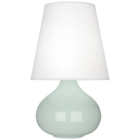 Robert Abbey June Celadon Table Lamp with Oyster Linen Shade