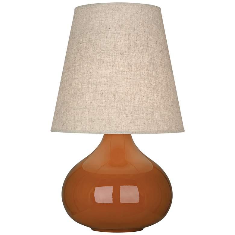 Robert Abbey June Cinnamon Table Lamp with Buff Linen Shade