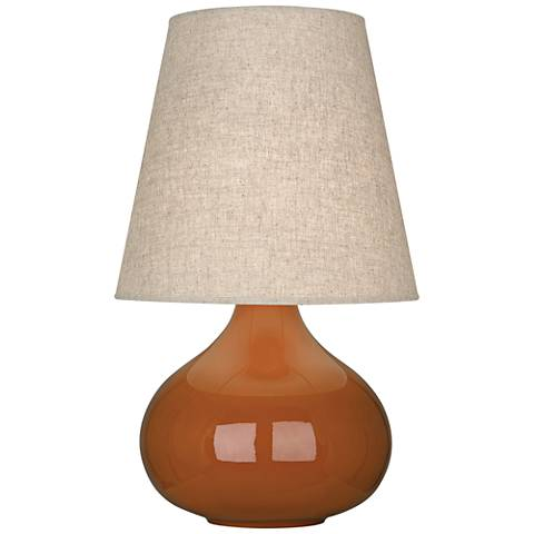 Robert Abbey June Cinnamon Table Lamp with Buff Linen Shade