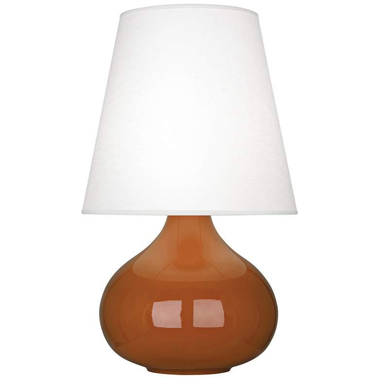 Robert Abbey June Cinnamon Table Lamp w/ Oyster Linen Shade