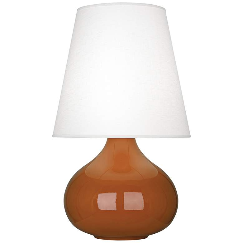 Robert Abbey June Cinnamon Table Lamp w/ Oyster Linen Shade