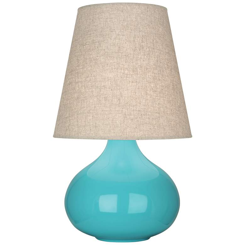 Robert Abbey June Egg Blue Ceramic Accent Table Lamp