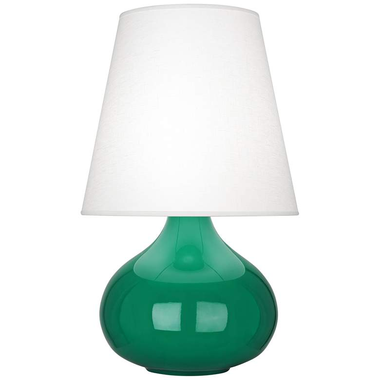 Robert Abbey June Eggplant Table Lamp w/ Oyster Linen Shade