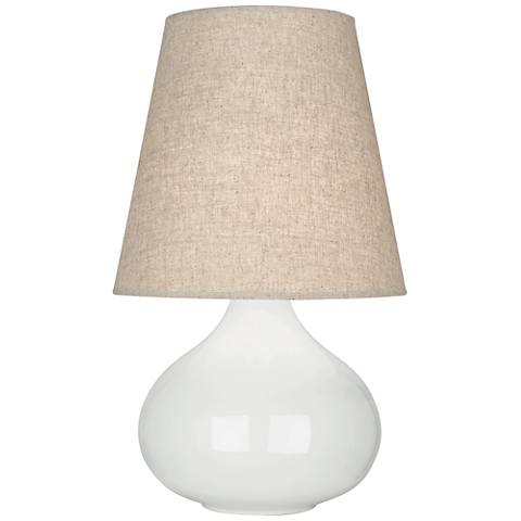 Robert Abbey June Lily Accent Table Lamp w/ Buff Linen Shade
