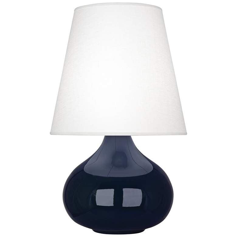 June Midnight Blue Accent Table Lamp w/ Oyster