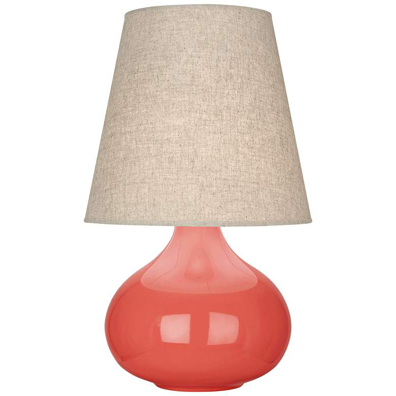 Robert Abbey June Melon Table Lamp with Buff