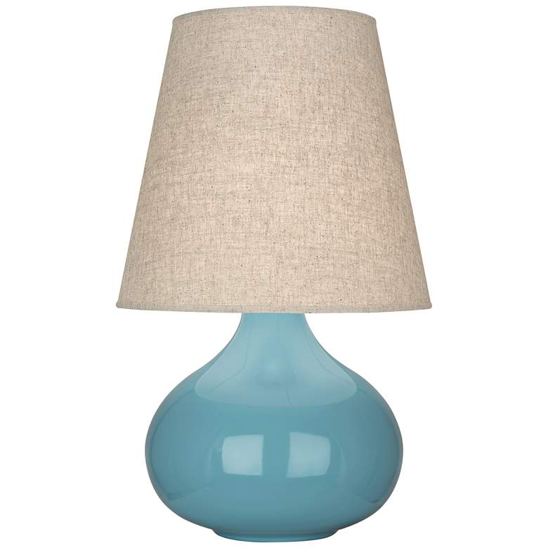 Robert Abbey June Steel Blue Ceramic Accent Table Lamp