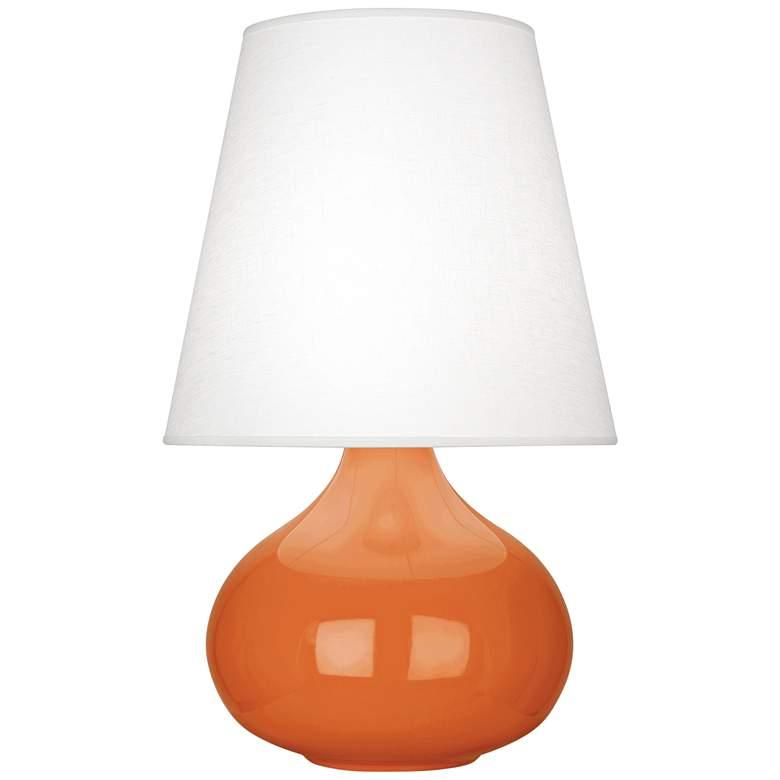 Robert Abbey June Pumpkin Table Lamp with Oyster Linen Shade