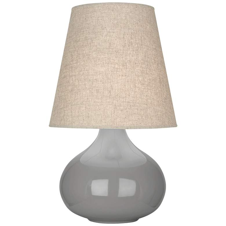 June Smokey Taupe Accent Table Lamp with Buff