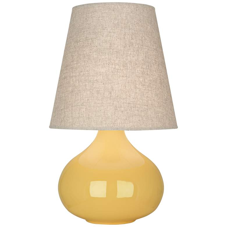 Robert Abbey June Sunset Table Lamp with Buff Linen Shade