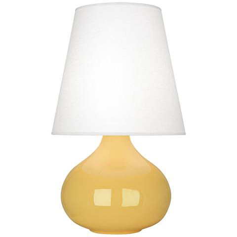 Robert Abbey June Sunset Table Lamp with Oyster Linen Shade