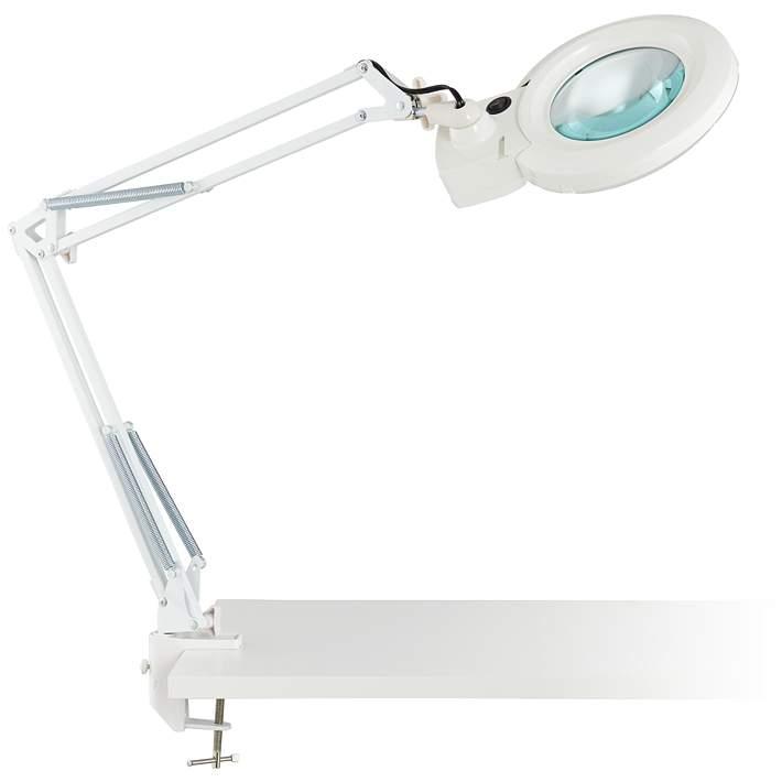 Clancy White Led Architect 3x 5x, Magnifier Desk Lamp