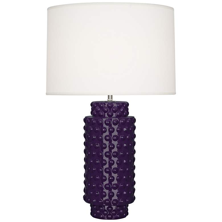 Robert Abbey Dolly Amethyst Ceramic Table Lamp