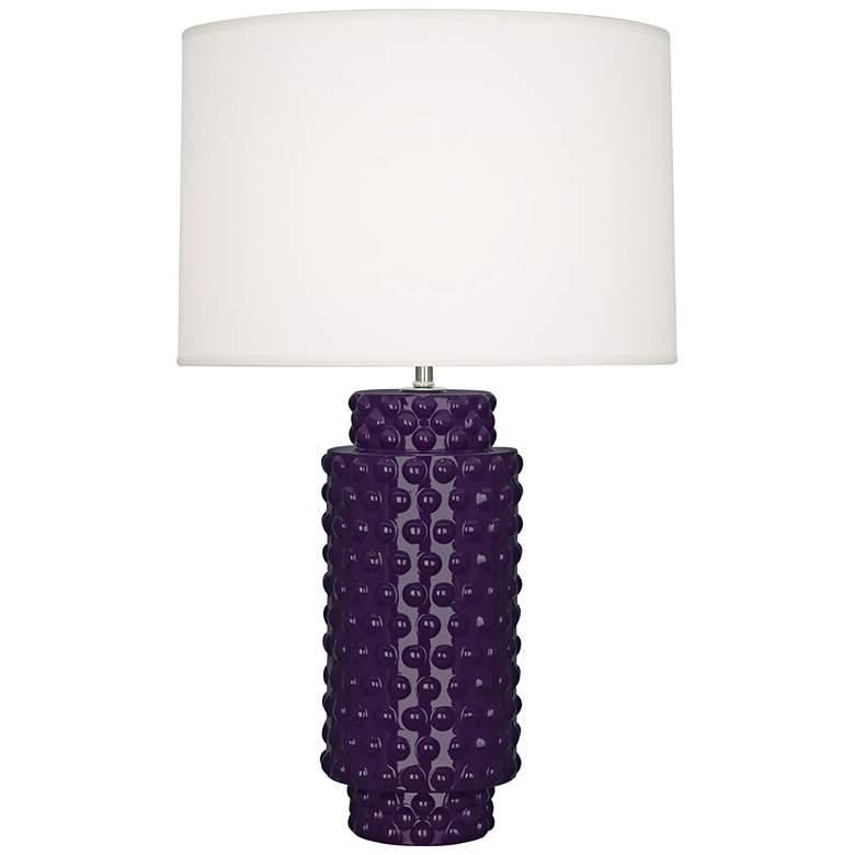 Robert Abbey Dolly Amethyst Ceramic Table Lamp
