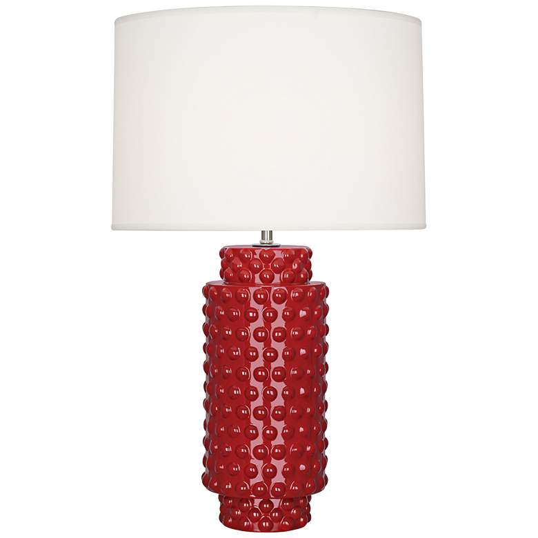 Robert Abbey Dolly Ruby Red Ceramic Table Lamp